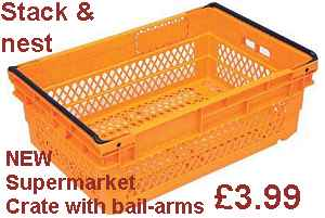 Plastic Supermarket Crates And Boxes With Handles